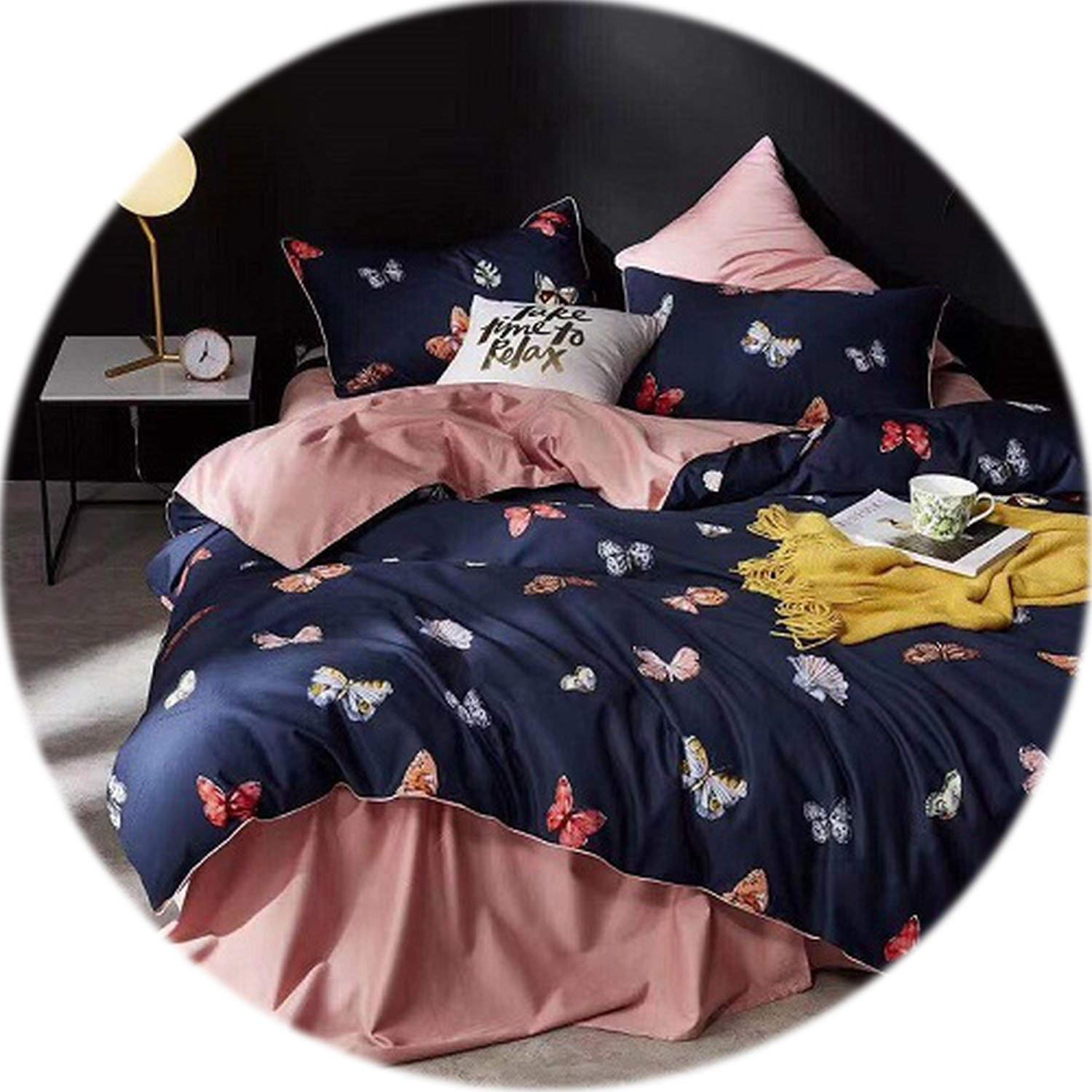 Funda Nordica King Size.Amazon Com Leaf Birds Print 3d Bedding Set Luxury Egyptian Cotton