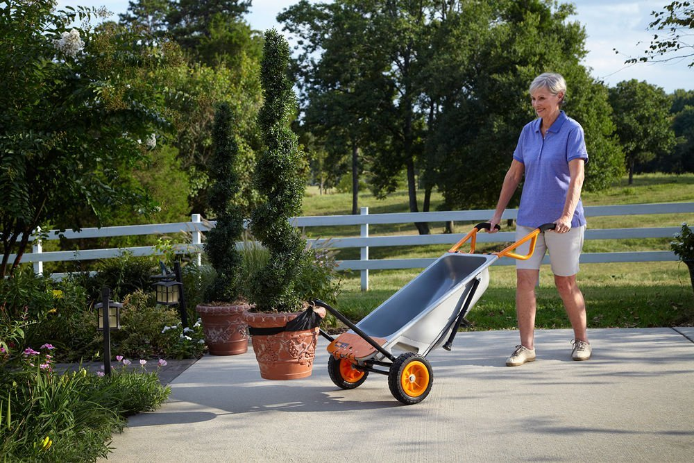 WG050 WORX 8-in-1 Aerocart Wheelbarrow Garden Yard Cart + FREE Water Hauler by Worx