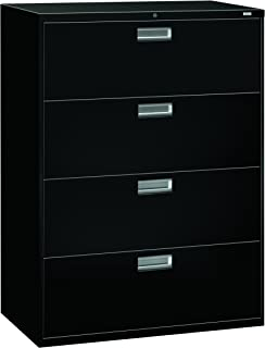 product image for HON 694LP 600 Series 42-Inch by 19-1/4-Inch 4-Drawer Lateral File, Black