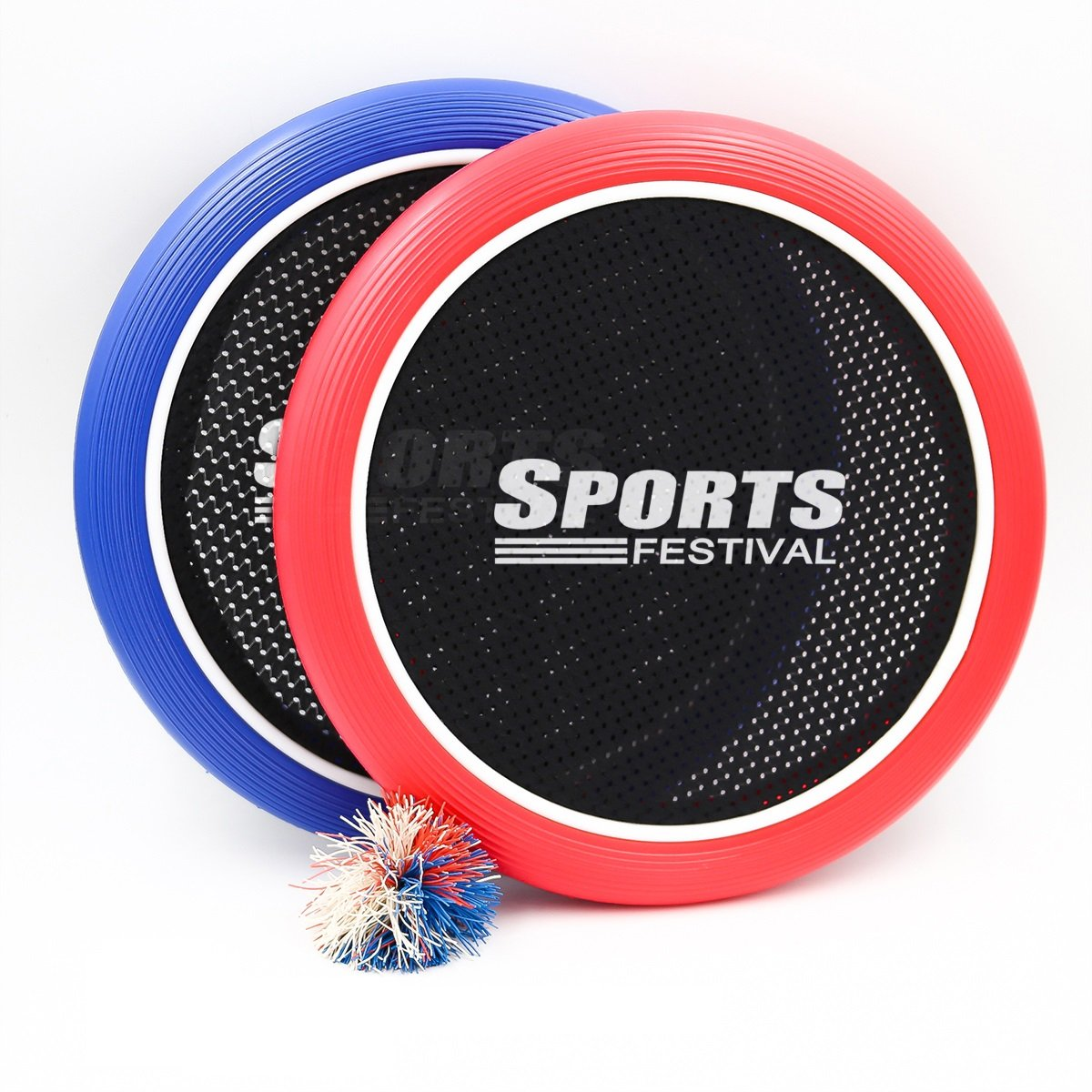 Sports Festival Slap Paddle Ball Hand Trampoline Super Disc Flying Disk Frisbee Bounce Game with Set of 2 with 1 Colorful Super Koosh Rubberband Bouncy Ball by Sports Festival ®