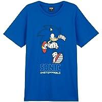 Sonic The Hedgehog Camiseta Manga Corta Niño, Top De Algodon para Chico Y Adolescente, Regalos Ropa para Niños De 4-14…