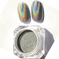 CCbeauty Rainbow Nail Powder Holographic Nail Art Glitter Powder Chrome Manicure Pigment Shimmer Color Changing Nail Art…