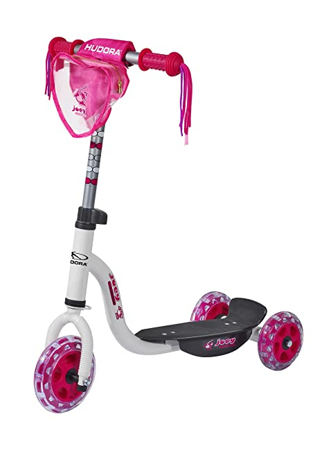 Hudora 11060 Joey 3.0 - Patinete Infantil, Color Rosa y Blanco
