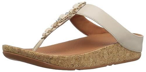 Ruffle Toe-Thong Sandals, Sandalias con Punta Abierta para Mujer, Rosa (Dusky Pink 535), 42 EU FitFlop
