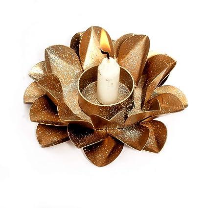 Amazoncom Eurasia Metal Lotus Flower Candle Holders Creative