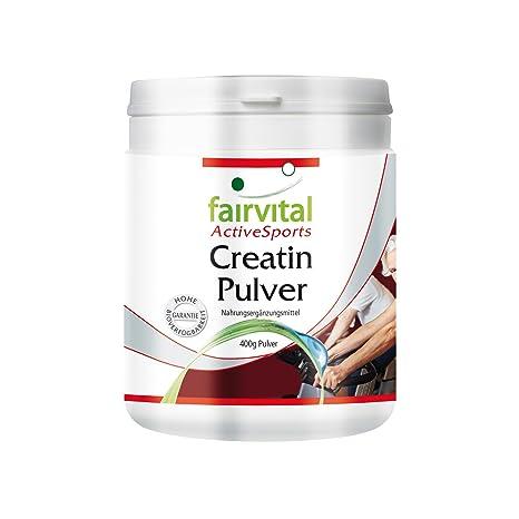 La creatina en polvo - 1 mes - VEGAN - dosis alta - 400g - monohidrato