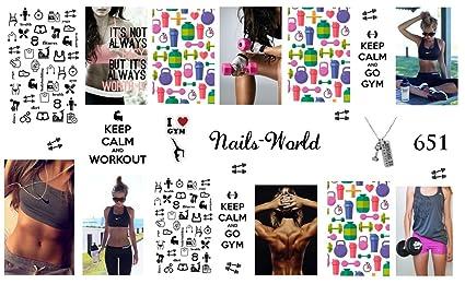 652 Pegatinas Calcomanías Nail Art Tatuajes de Manicura Chicas ...
