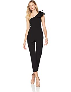 7a0932f6d9b Adrianna Papell Women s One Shoulder Jumpsuit at Amazon Women s ...