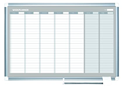 Amazon Com Mastervision Planning Board Magnetic Dry Erase Weekly