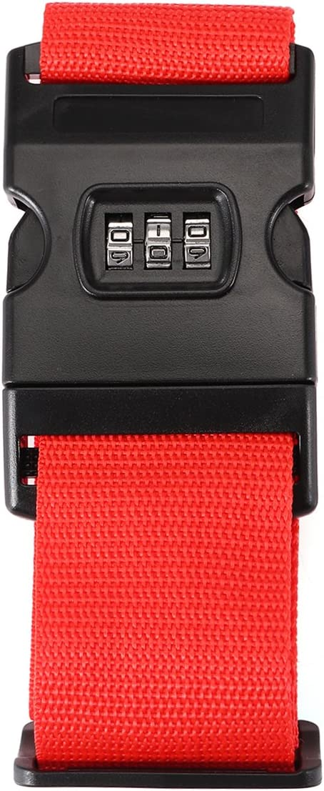 Global Brands Online Honana Suitcase Belt Non Slip Strength Travel Belt Luggage Strap with 3 Digit Combination Bike Lock