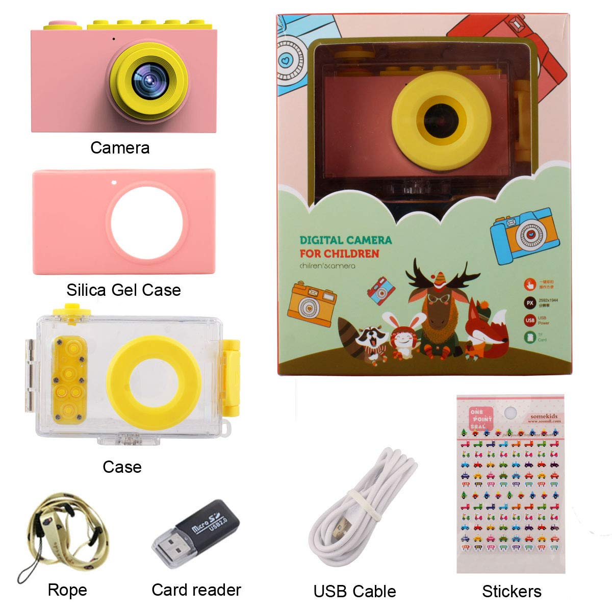 MAGENDARA Kids Digital Camera HD 1080P Children Camera with 2.0 Inch Screen Toy Camera for Boys Girls Birthday with Waterproof Case-Pink by MAGENDARA (Image #7)