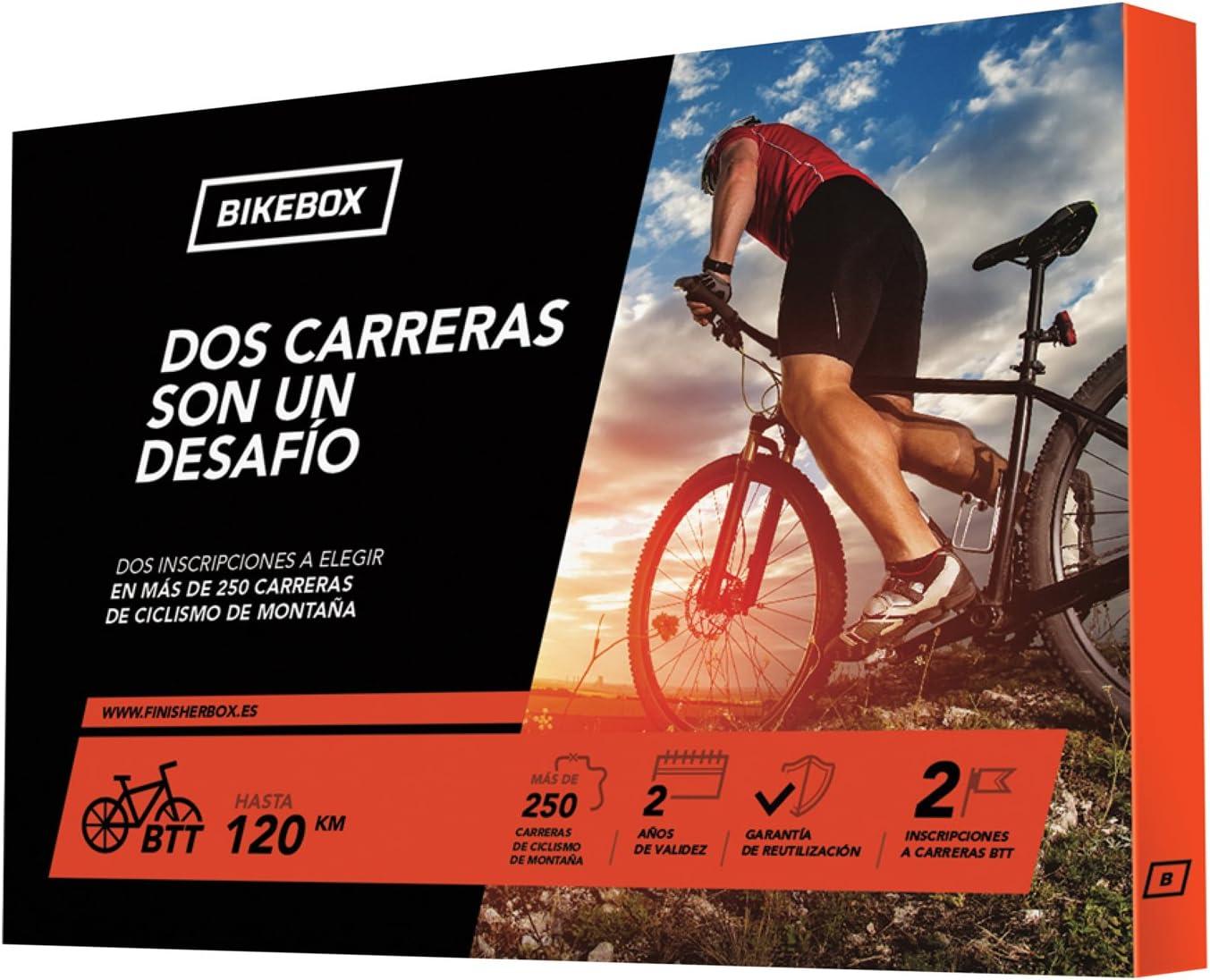 BikeBox - Caja regalo para ciclistas - DOS CARRERAS UN DESAFÍO - Regala dos carreras de ciclismo de montaña - Más de 250
