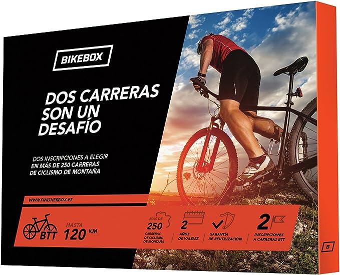 BikeBox - Caja Regalo para Ciclistas - Dos Carreras UN DESAFÍO - Regala Dos Carreras de Ciclismo de montaña - Más de 250: Amazon.es: Deportes y aire libre