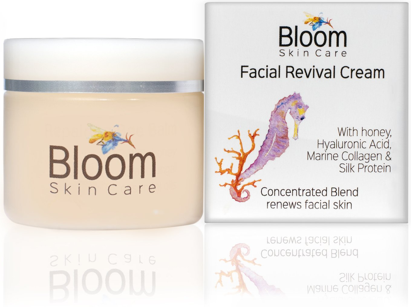 Bloom Skin Care Facial Revival Cream 1.69oz - Hyaluronic Acid Tightening Face Cream for Women and Men - Paraben and Cruelty Free - Natural Moisturizer for firming skin by Bloom Skin Care
