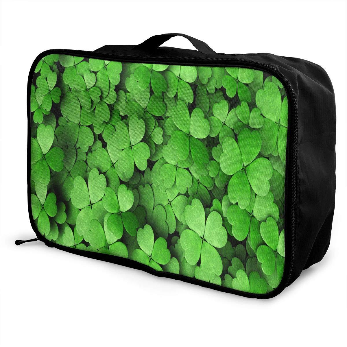 Travel Bags Luck Shamrock Portable Duffel Trolley Handle Luggage Bag