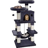 i.Pet Cat Tree 145cm Cat Scratching Post Tower Scratcher Home Pet Furniture Grey