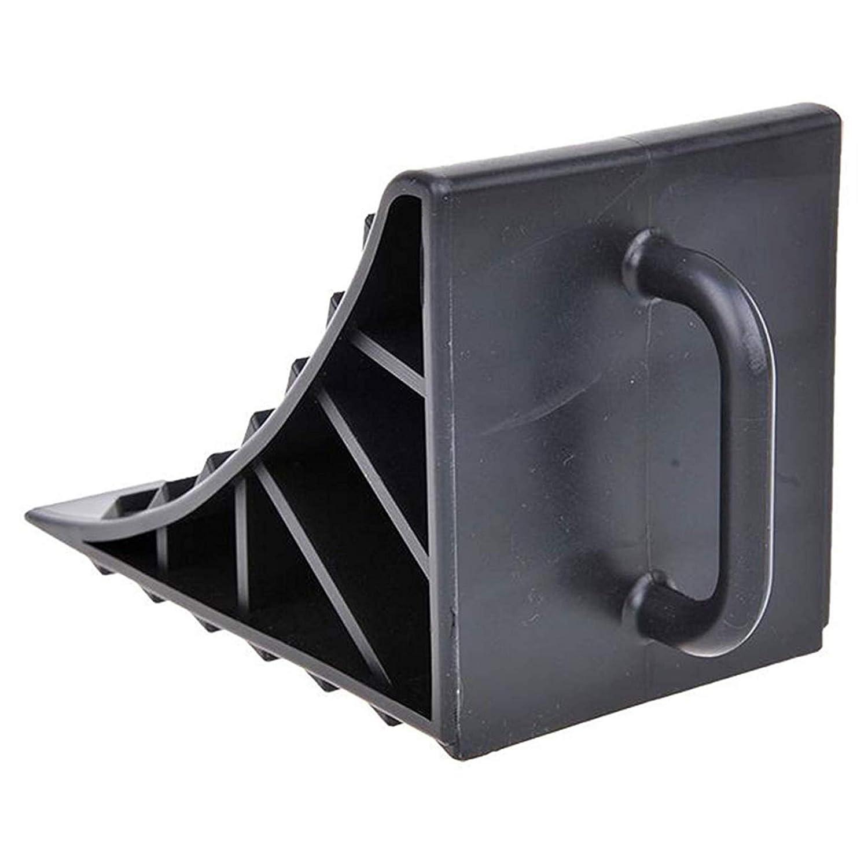 Pack Of 2 GADLANE Wheel Chocks Tyre Saver Brake Stoppers Ridged Caravan Horsebox Wedges Trailer With Handle