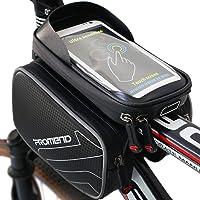 XBoze Bolsa de Bicicleta Impermeable Bolsa Marco Frontal Superior Tubo Bolsa Ciclismo Movil con Desmontable y Pantalla Táctil para Smartphone Hasta 6,2 Pulgadas