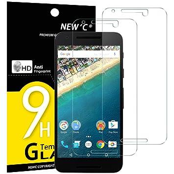 NEWC 2 Unidades, Protector de Pantalla para LG Google Nexus 5X ...
