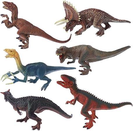 Kintrade 6 Tipos De Juguetes De Dinosaurios De Plastico Figura De Accion Modelo Modelo De Juguete Para Ninos Regalo Amazon Es Hogar Los dinosaurio carnívoros eran los que se alimentaban de carne, este grupo se encuentra dentro de los terópodos que eran un grupo de. kintrade 6 tipos de juguetes de