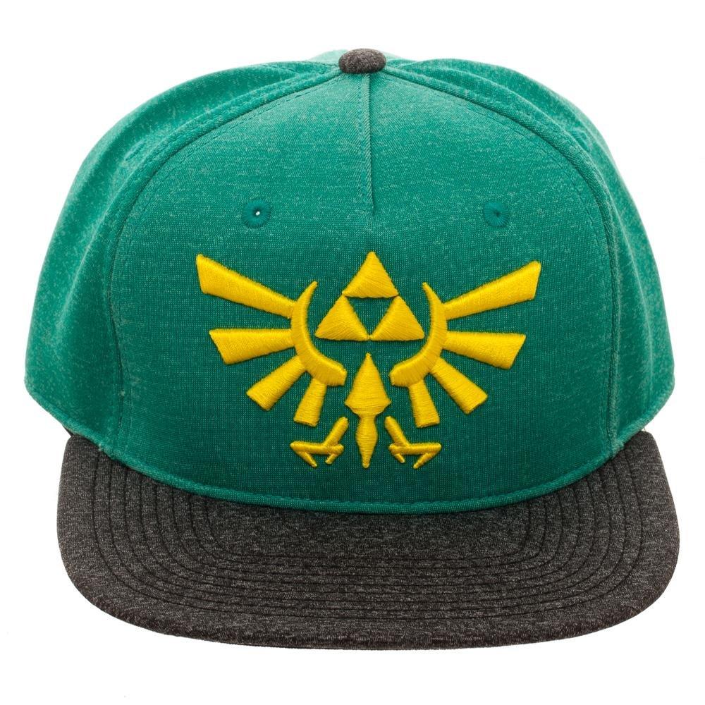 Amazon.com  Bioworld Green   Grey Marled Nintendo Legend Of Zelda Triforce  Snapback  Clothing 9ed2df56c8b