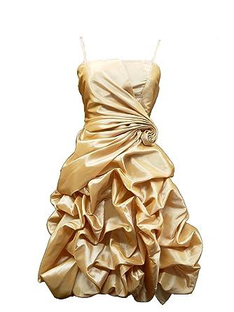 Cherlone Damen Kleid Gold Gold: Amazon.de: Bekleidung