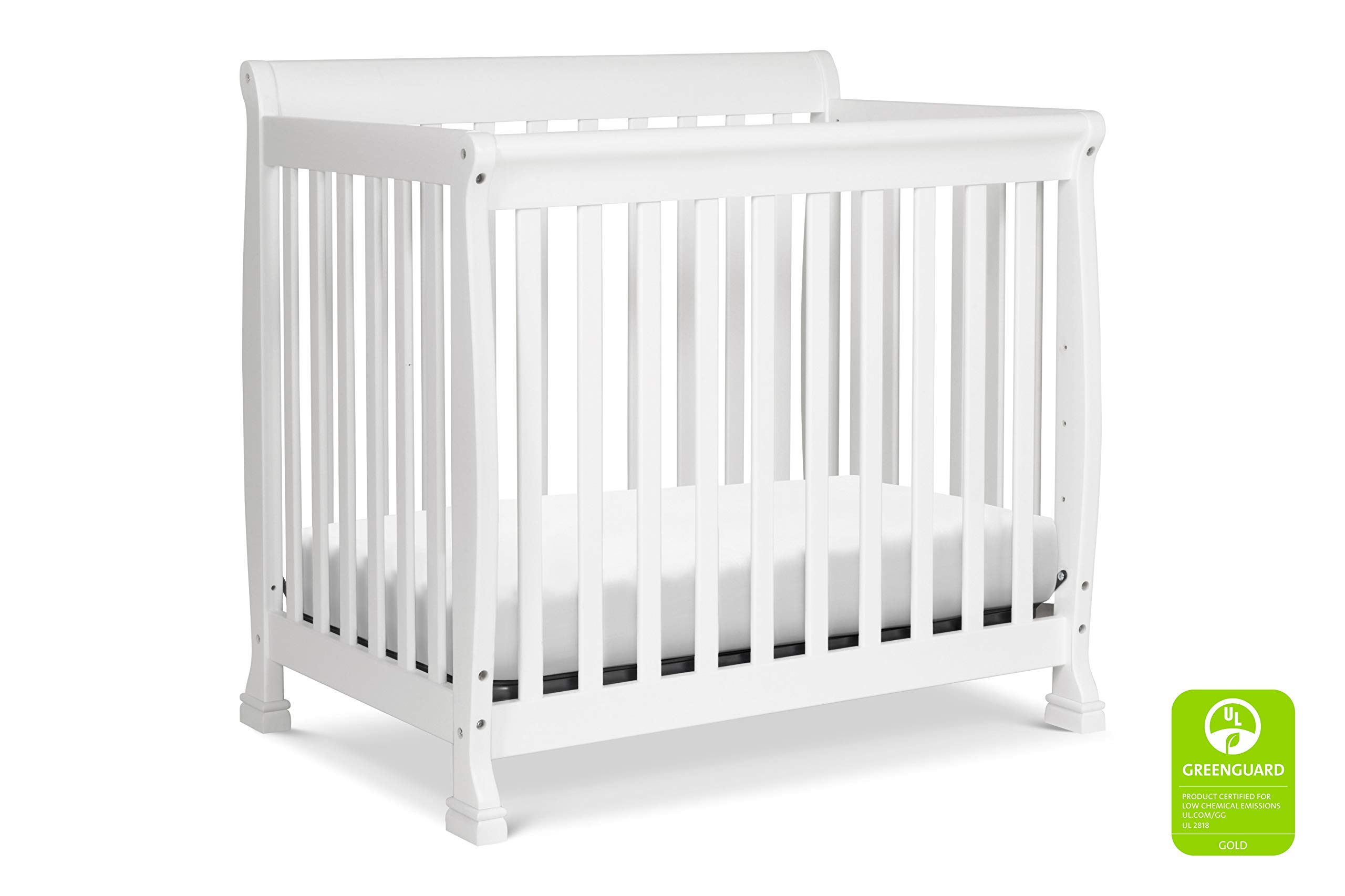 Davinci Kalani 4 in 1 Convertible Mini Crib and Twin Bed, White by DaVinci