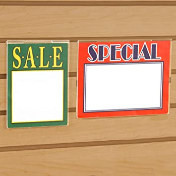 """Store Displays 2 NEW ACRYLIC SLAT WALL SIGN HOLDER 7/"""" WIDE x 11/"""" TALL"""