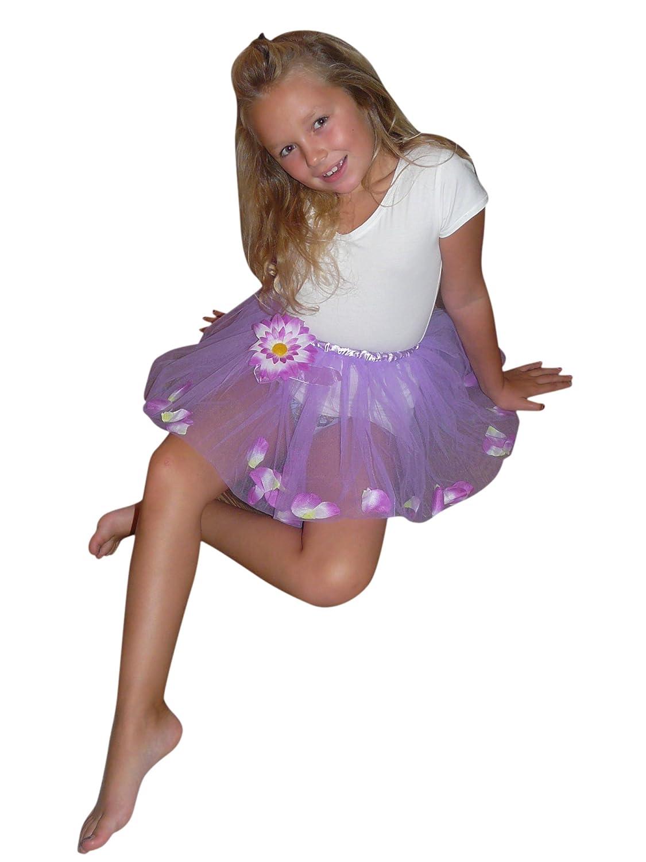 Li10, tamaño 3-6 años, falda violeta con flores internos ...