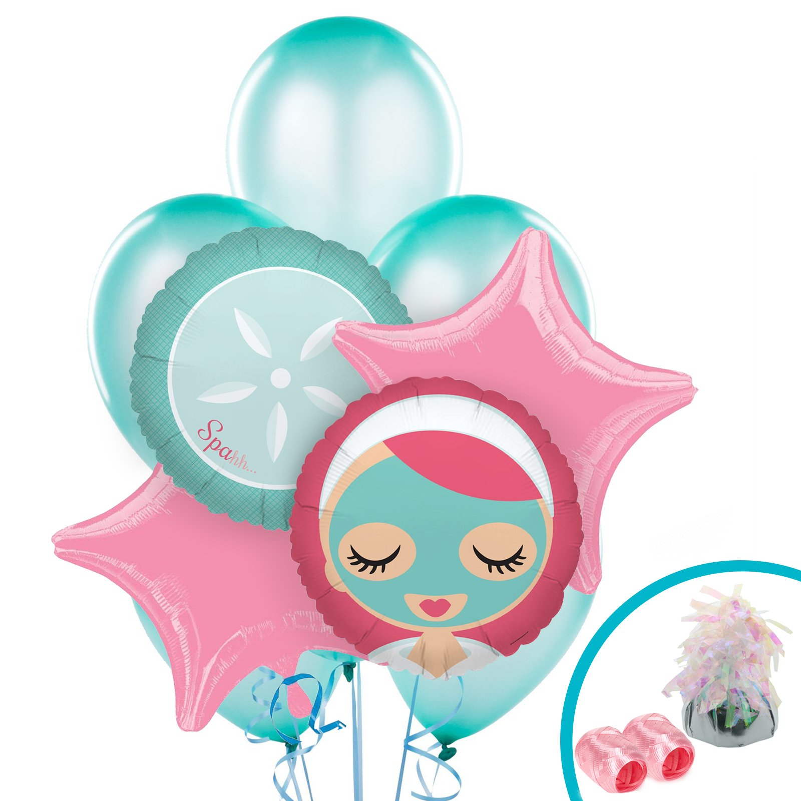 BirthdayExpress Little Spa Salon Makeover Party Supplies - Balloon Bouquet