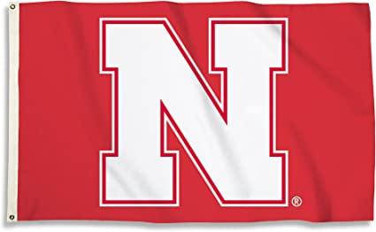 Red, NCAA Nebraska Cornhuskers 3 X 5 Foot Flag with Grommets