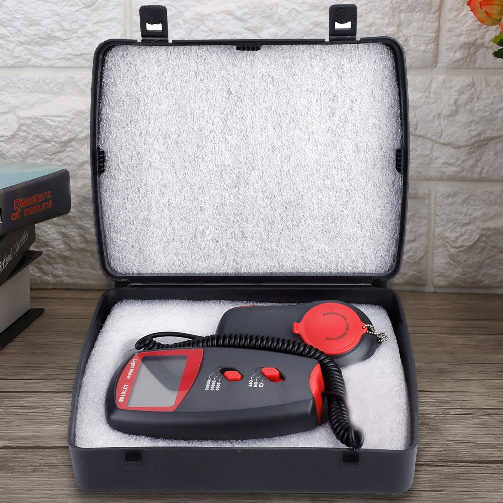 LX1010B Digital Luxmeter LCD Display Light Meter Environmental Testing Illuminometer by Wal front (Image #6)
