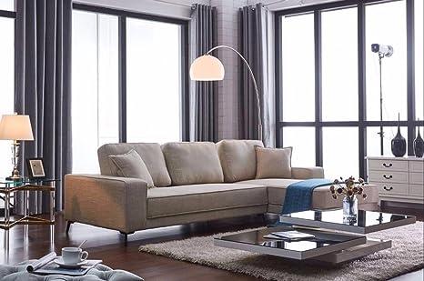 Miraculous Amazon Com Fabric Sectional Sofa Beige Kitchen Dining Uwap Interior Chair Design Uwaporg