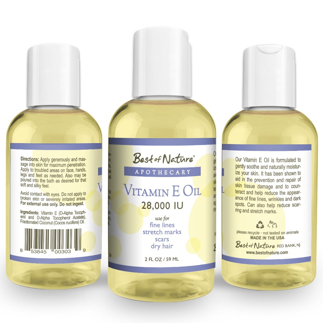 Vitamin E Oil - 28,000 IU - 100% Pure & Natural