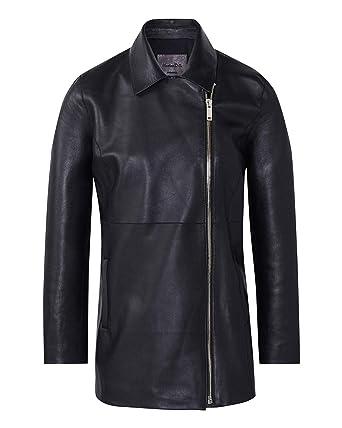 fd4d70c95a4 MASSIMO DUTTI Women's Black Nappa Leather Biker Jacket 4705/706 (X-Small)