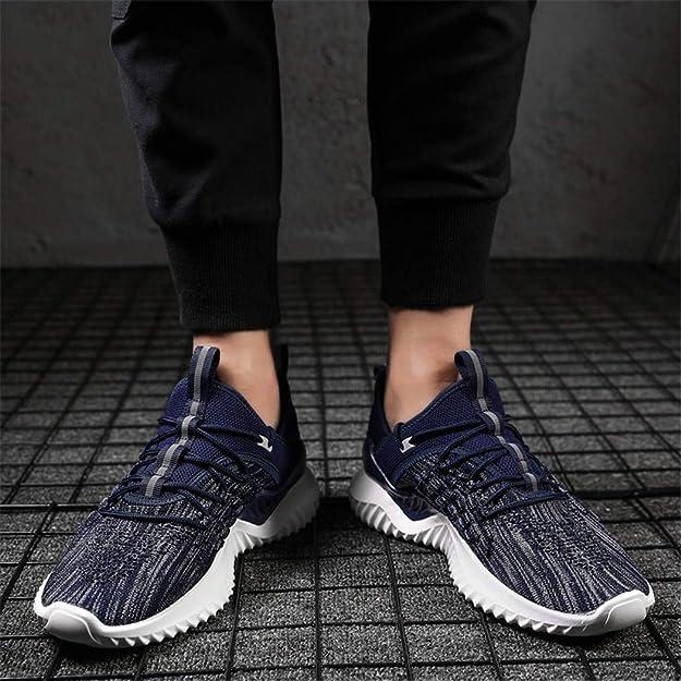 Veluckin Zapatillas Running para Hombre Aire Libre y Deporte Casual Zapatos Gimnasio Correr Sneakers Ligero Transpirable: Amazon.es: Zapatos y complementos