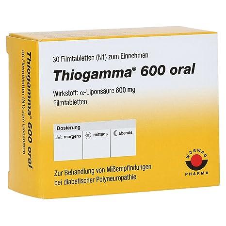 THIOGAMMA 600 oral comprimidos recubiertos con película 30 St comprimidos recubiertos con película