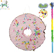 kaimei Donut Pinata for Kids Birthday Anniversary Celebration Decorations Gaming Theme Pet Party Cinco de Mayo Fiesta Supplie