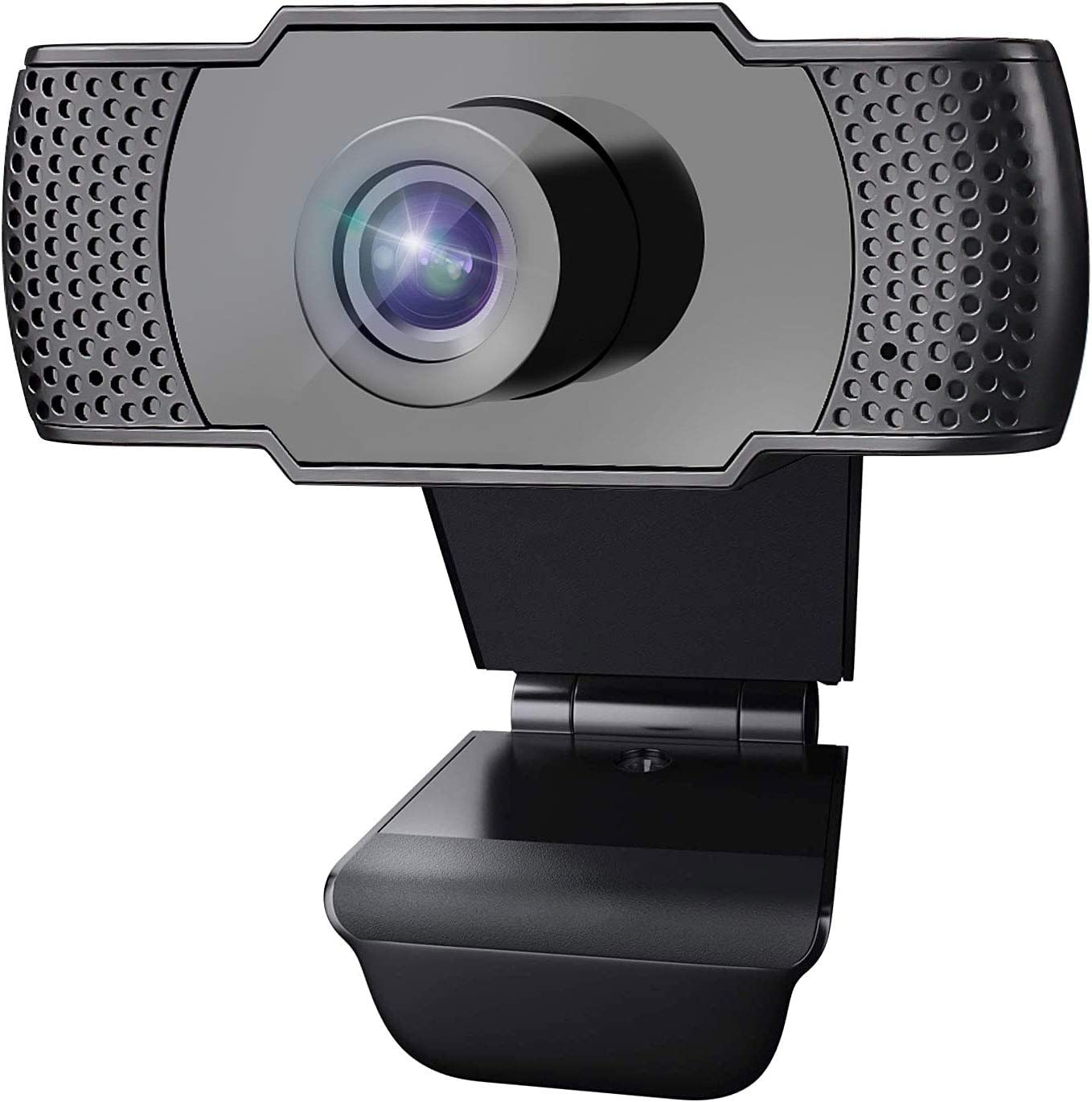 1080P Webcam with Microphone, HD Webcam Desktop Laptop Computer Camera, Plug and Play USB 2.0 Webcam for Live Streaming, Conference, Gaming, Online Classes