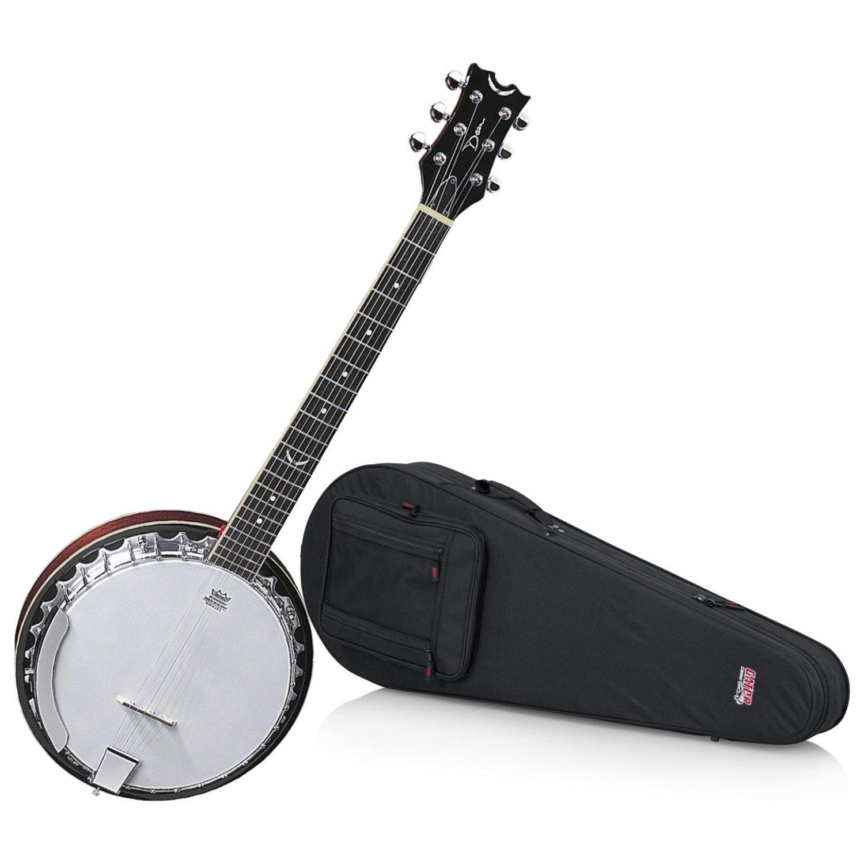 Dean BW6 Backwoods 6 String Banjo with Hard Shell Case Dean Guitars BW6 BUNDLE