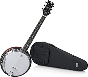 Dean BW6 Backwoods 6 String Banjo with Hard Shell Case