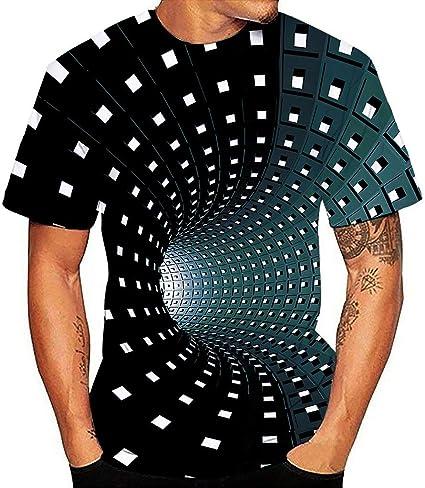 ღLILICATღ Parejas 3D Digital Unisex Camisetas de Manga Corta Casual Hipster Camisas Deportivas Sport Graphics tee para Hombres: Amazon.es: Ropa y accesorios
