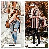Exlura Women's Open Front Knitted Tassel Cardigan