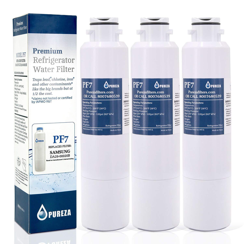 DA29-00020B Fits for Samsung DA29-00020B Water Filter- Also Fits DA29-00020A, HAF-CIN/EXP, 46-9101 Refrigerator Water Filter by Pureza filters (Image #1)