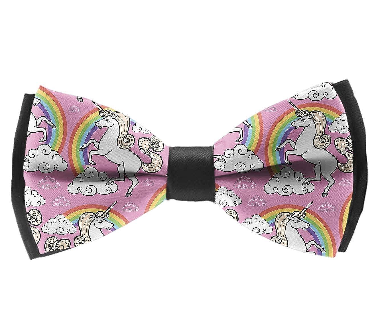 Classic Magic Unicorn Rainbow Men Adjustable Pre-tied Tuxedo Bow Tie