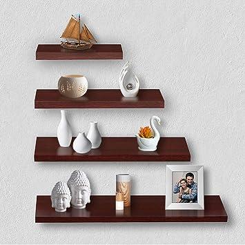 Delta S1 Home Decor Wall Shelf/Rack-Set of 4 (Matt Finish)