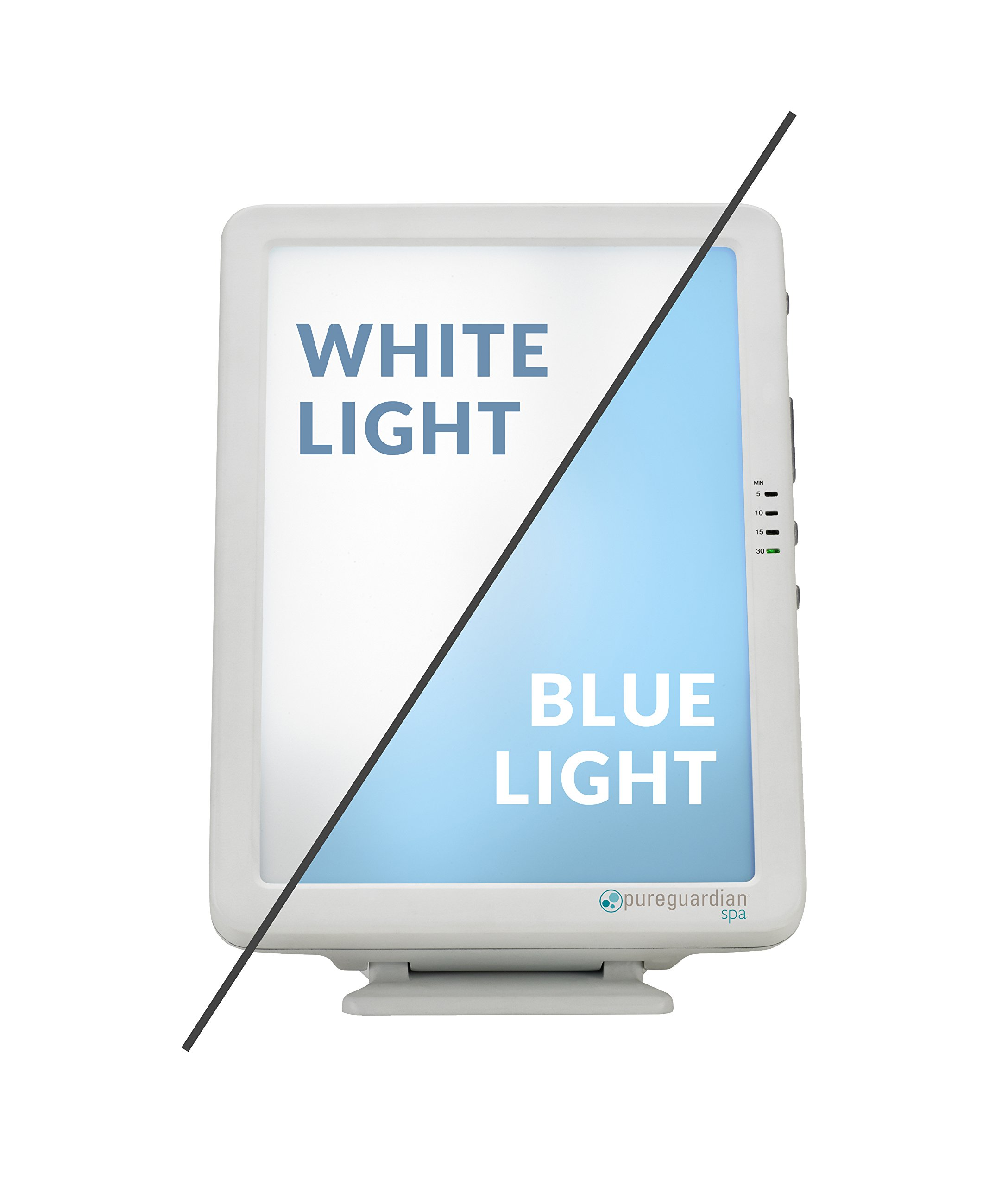 PureGuardian 10,000 LUX Full Spectrum Energy Light with Customizable Blue or White Light Therapy Intensity, Timer, Pure Guardian SPA50CA Energy Lamp