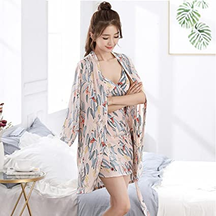 Pijamas de Hembras Summer Ice Silk Sexy Strap Ladies Sleep Falda ...