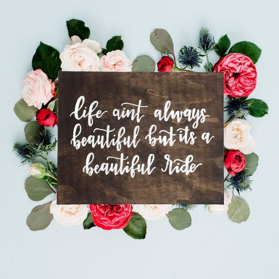 123RoyWarner Life Aint Always Beautiful Gary Allan Lyrics Wooden Box Sign