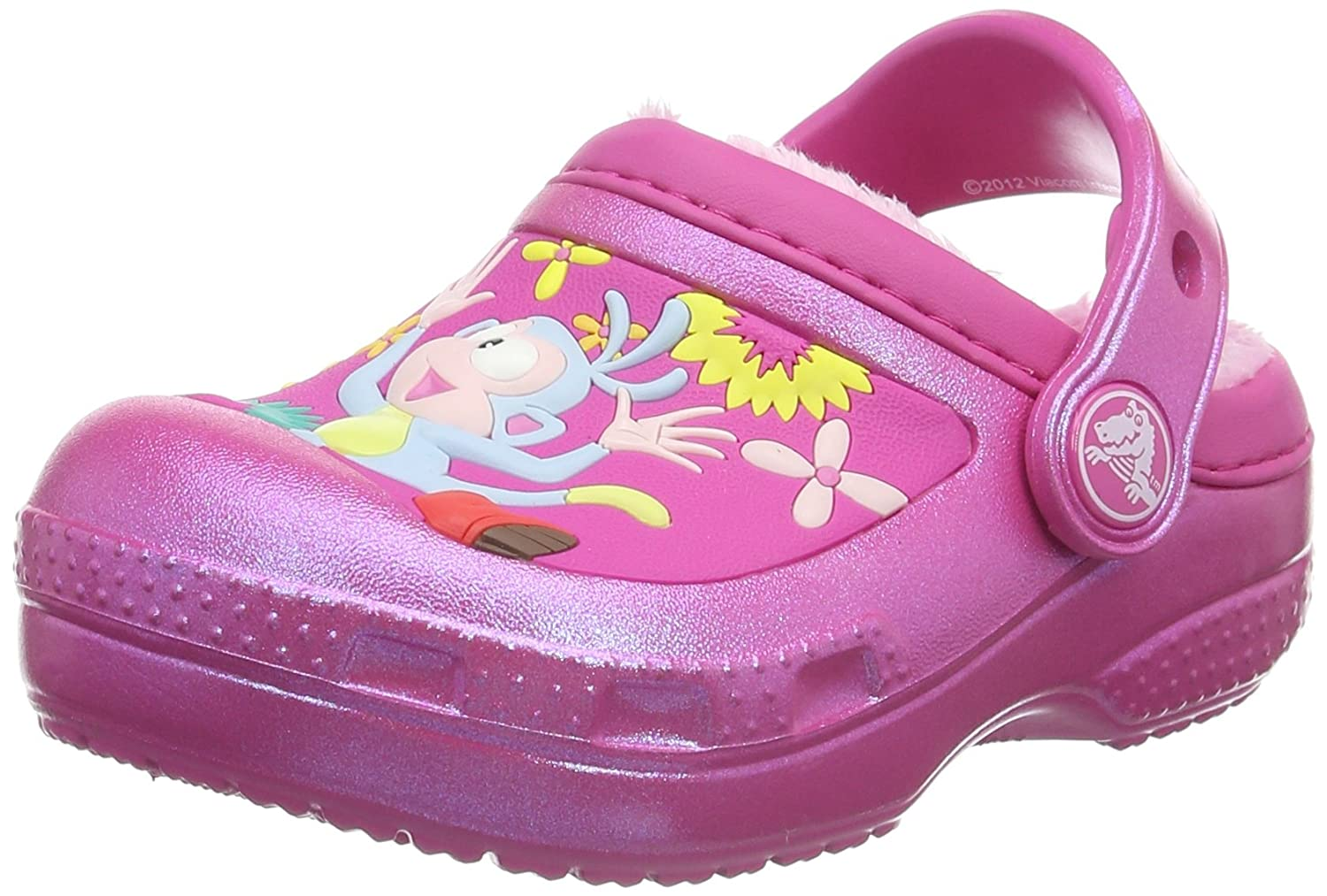 ba5cfb279c05b7 Crocs enfants - Dora Lollipops   Flowers Lined Clog - fuchsia